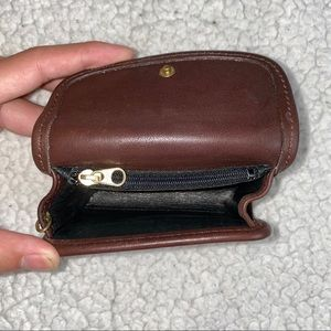 Coach Bags - Vintage Coach Brown Leather Purse and Mini wallet